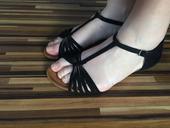 Černé sandály Refresh, 40
