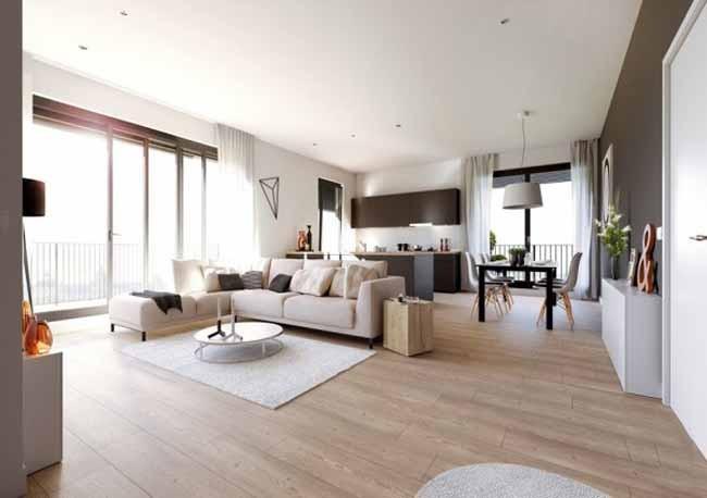 Inspirace budoucí obývací pokoj - Obývací pokoj s kuchyní