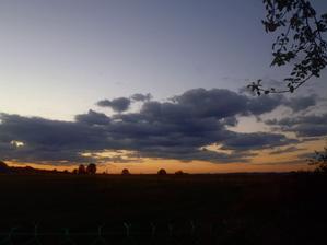 já ty západy slunce u nás prostě miluju