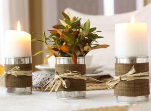 plechovice ozdobene - vyuzitie ako svietnik aj ako vaza
