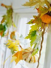 listovo-tekvicova vyzdoba