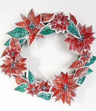 vencek z kvetov (kvety vyrobene zo starych knih a nalepene)