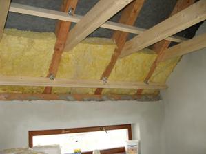 Zateplení střechy (1 vrstva) - 20 cm minerální vaty