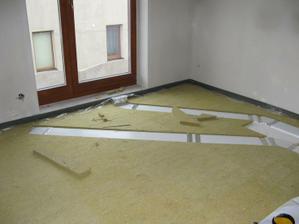 Rekuperace a kročejova izolace v podkroví