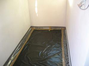 Přichystáno na vylití podlahy