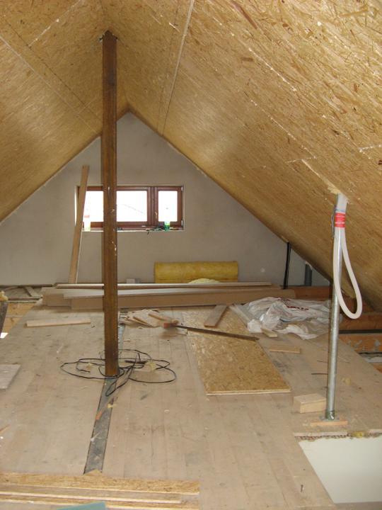 Pasivní dům - naše stodůlka - Zateplení střechy - 3. vrstva - OSB deska