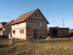Pasivní dům - naše stodůlka loni o Vánocích