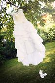 Korzetové princeznovské svatební šaty s vlečkou, 44