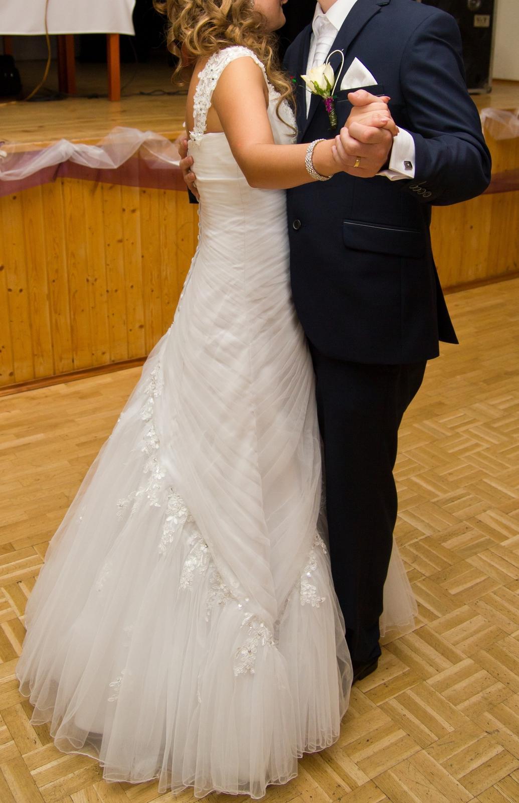 svadobné šaty vel. 36 + spodnička - Obrázok č. 3