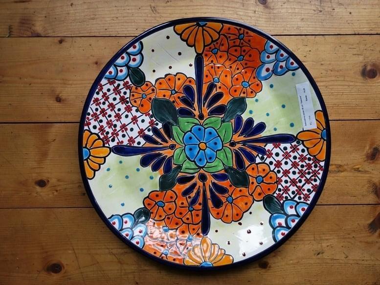 Farebný keramický tanier z Mexika - Obrázok č. 1