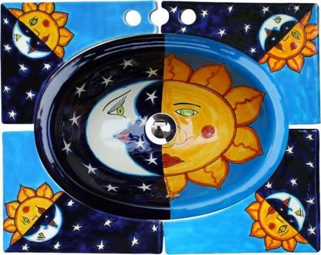 """Malé oválne zápustné umývadlo """"Eclipse Turquesa"""" - Obrázok č. 1"""