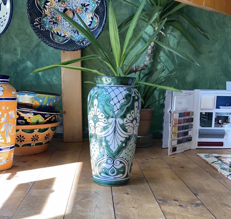 """Váza veľká """"Florero-Verde-Blanco"""" - Obrázok č. 1"""