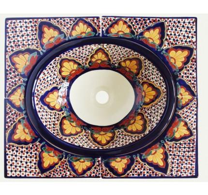 Zápustné umývadlo oválne stredné s rohovými dlaždicami Amanecer - Obrázok č. 1