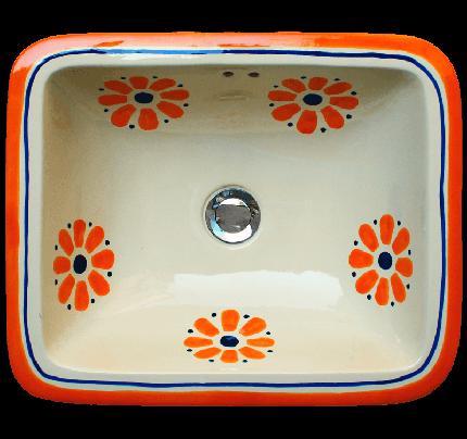 "Zápustné hranaté umývadlo ""Daisy May"" - Obrázok č. 1"