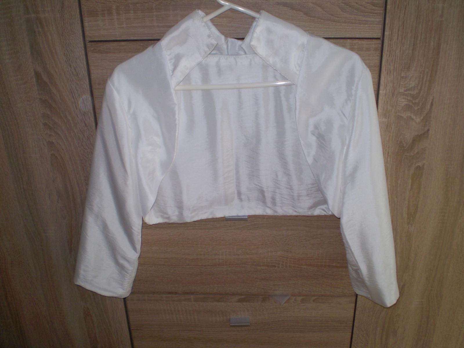 Romantické svadobné šaty s bolerkom - Obrázok č. 4