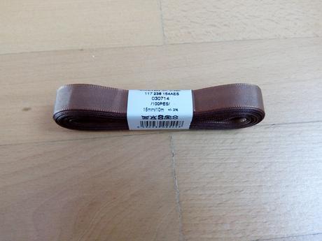 Taftová stuha 15 mm hnědá - Obrázek č. 1