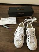 Converse svatební tenisky velikost 38,luxusní,top, 38
