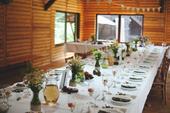 Rustikální svatba - komplet dekorací (dřevo, juta),