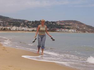 Prechádzka po pláži.