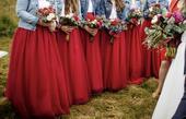 Tylové sukně pro družičky, M