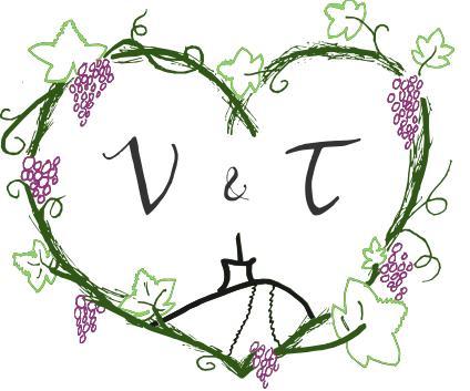 Přípravy <3 - Naše svatební logo. T je z jižní Moravy já z Beskyd.