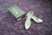 Saténové svatební boty - 40, 40