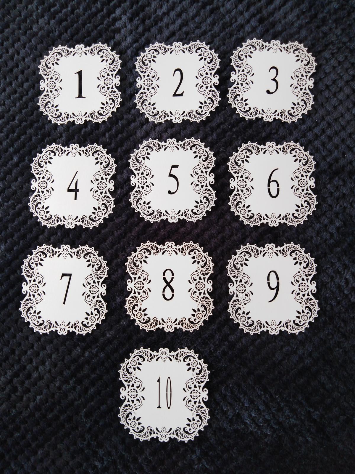 Čísla stolů - Obrázek č. 1