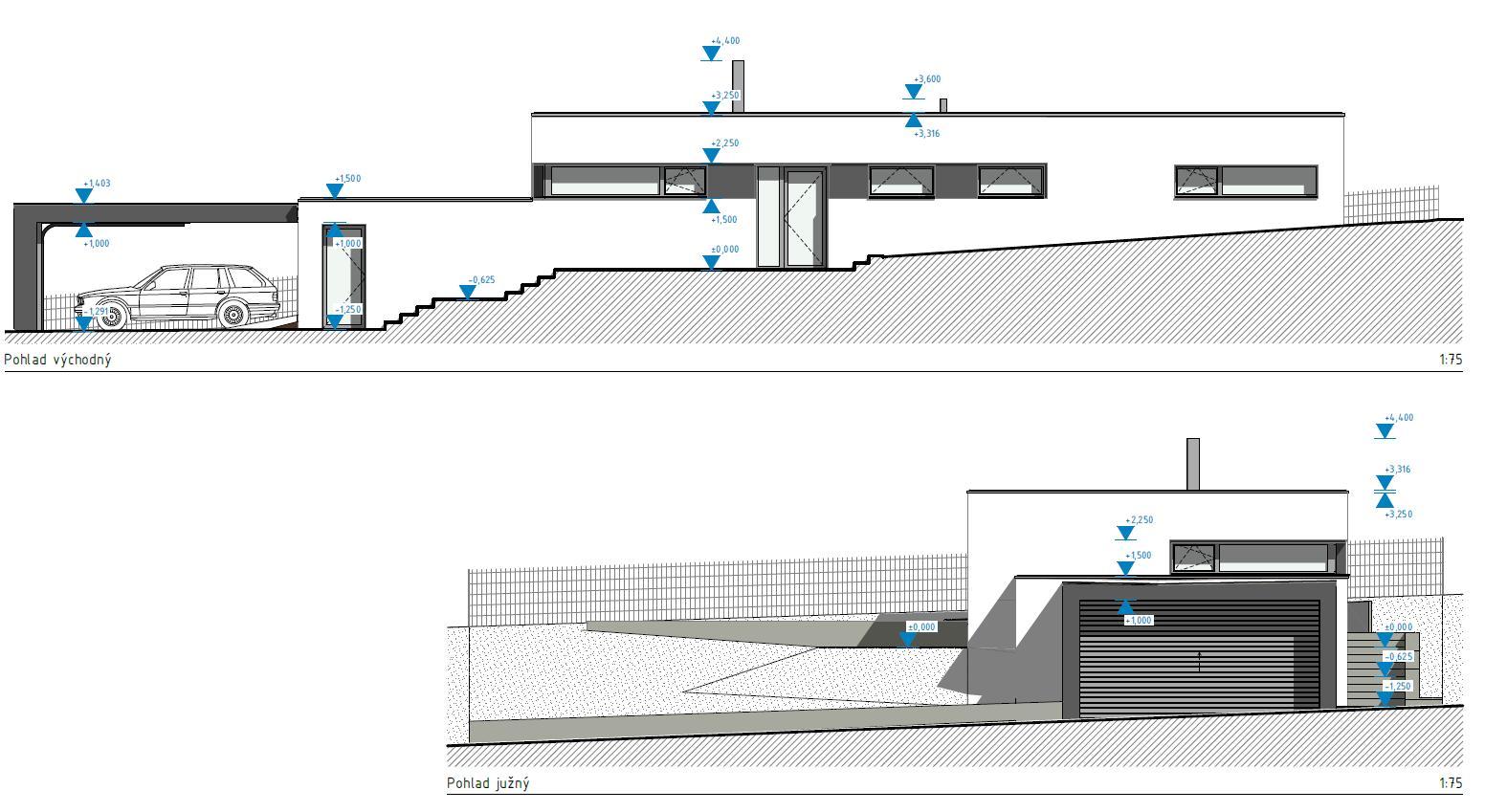Srnka v Hájiku - Realita a svahovity teren priniesli nakoniec tuto finalnu podobu navrhu