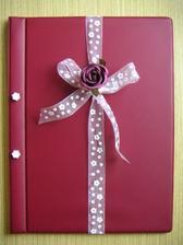 Svatební kniha - obal a jednoduchá ozdoba :o)