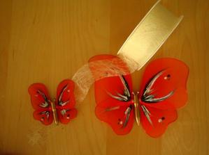 motýlci s mašlí na auto ženicha