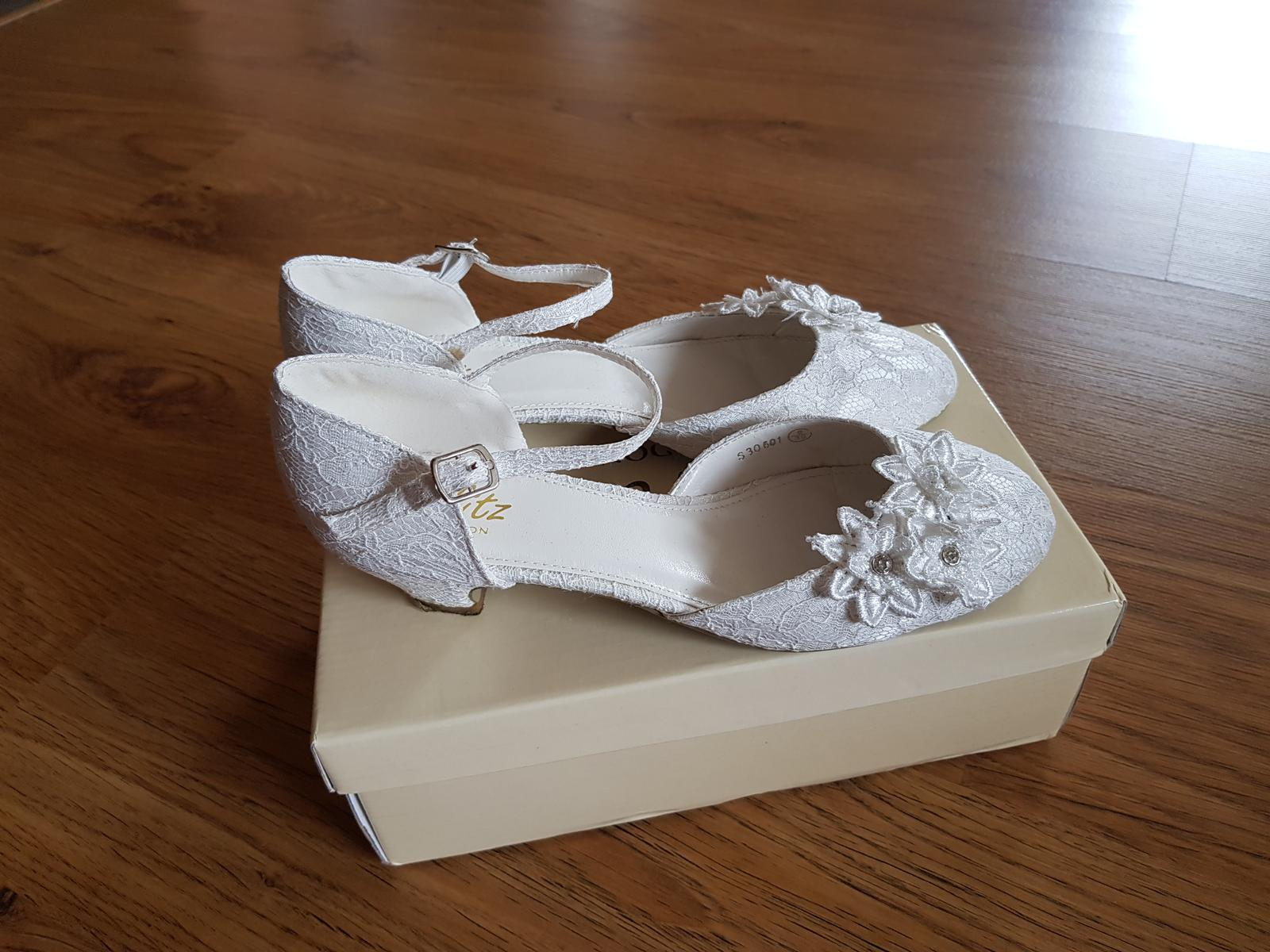 Svatební boty ivory - Obrázek č. 1