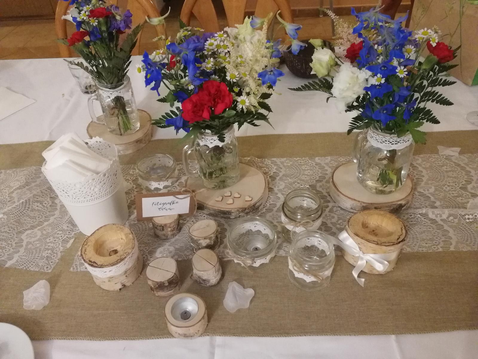 Svatební dekorace na stůl - Obrázek č. 1