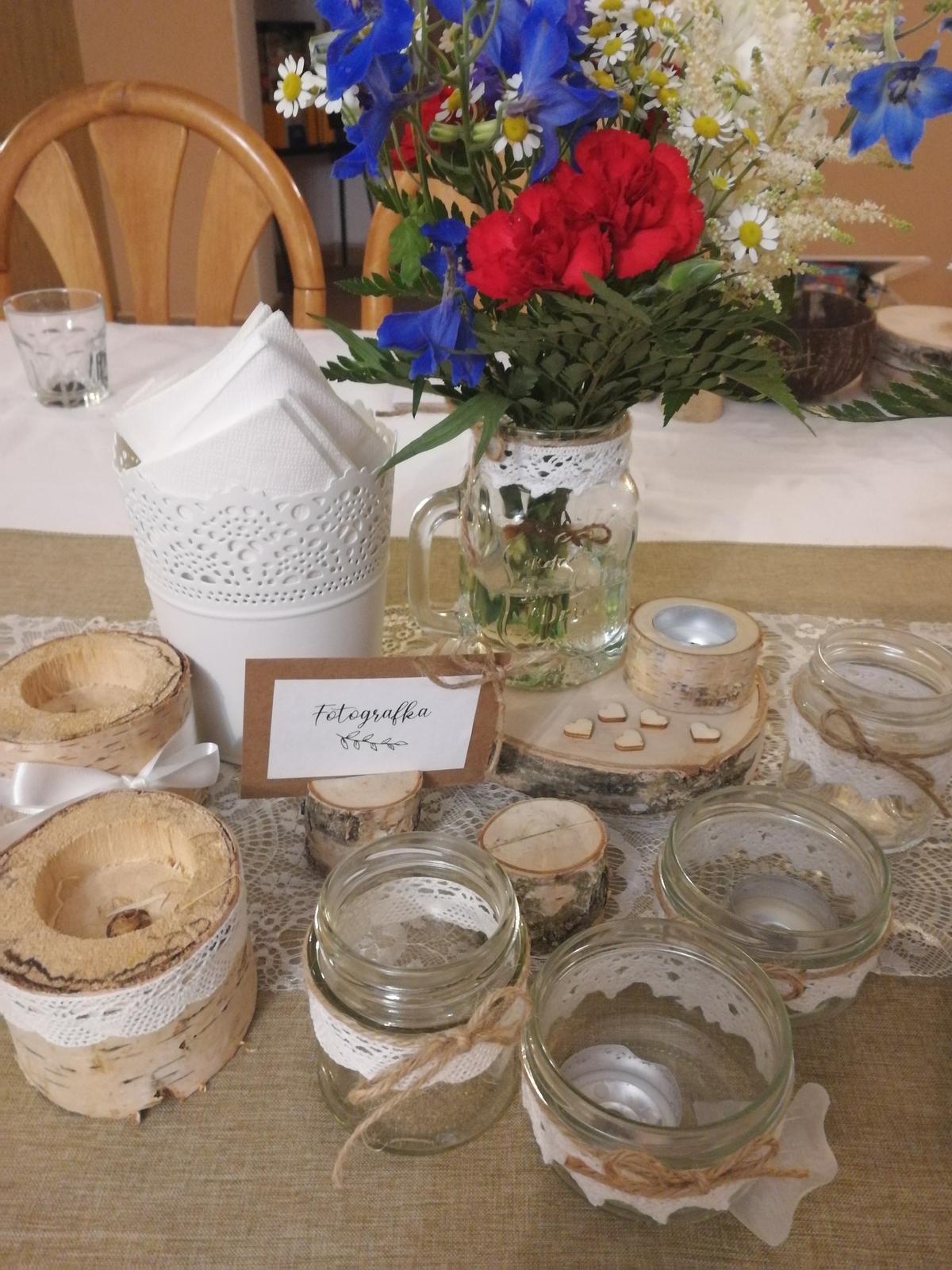 Svatební dekorace na stůl - Obrázek č. 2