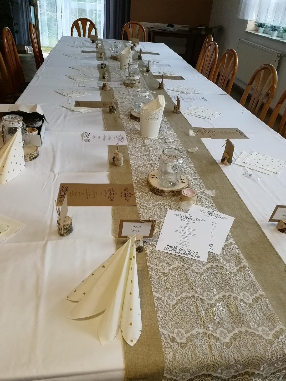 Svatební dekorace na stůl - Obrázek č. 3