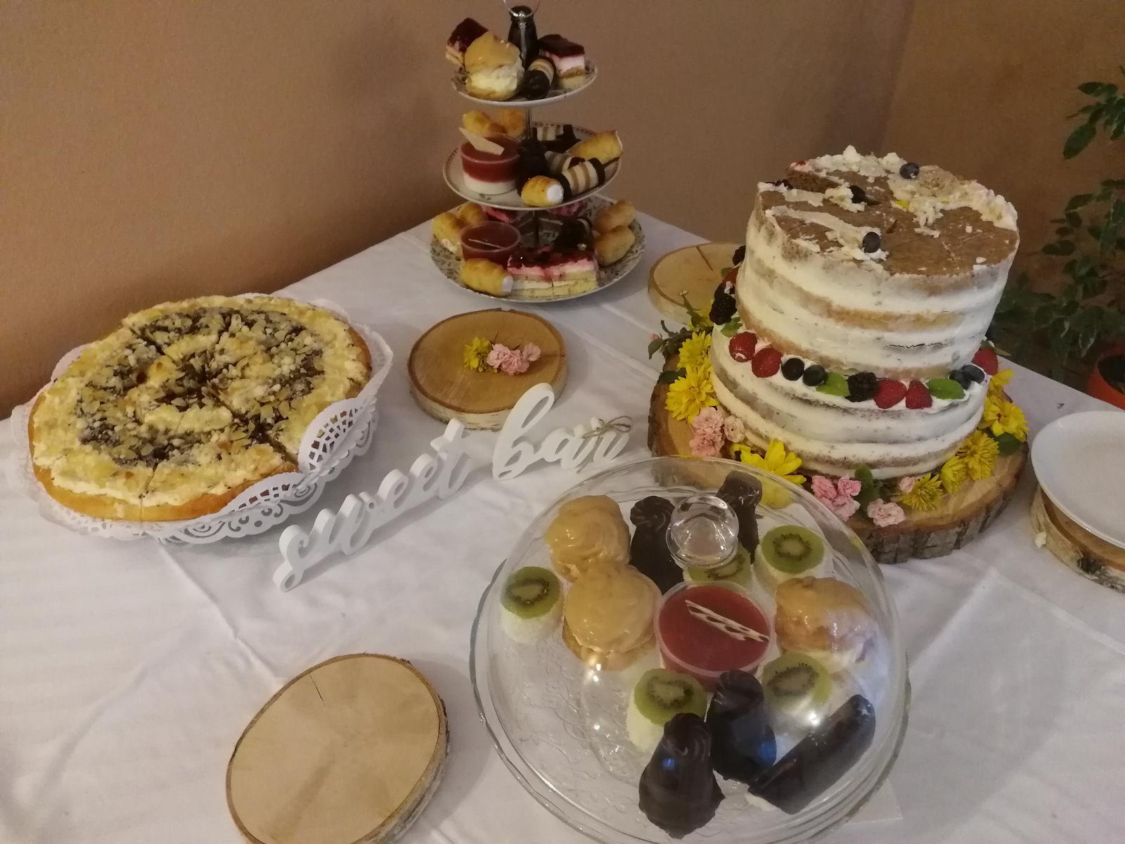 Nápis, talíře, podnosy do Sweet baru - Obrázek č. 1