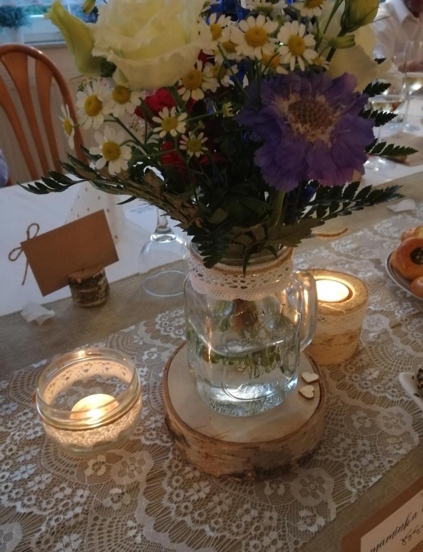 Březové a skleněné svícny a vázy - Obrázek č. 2