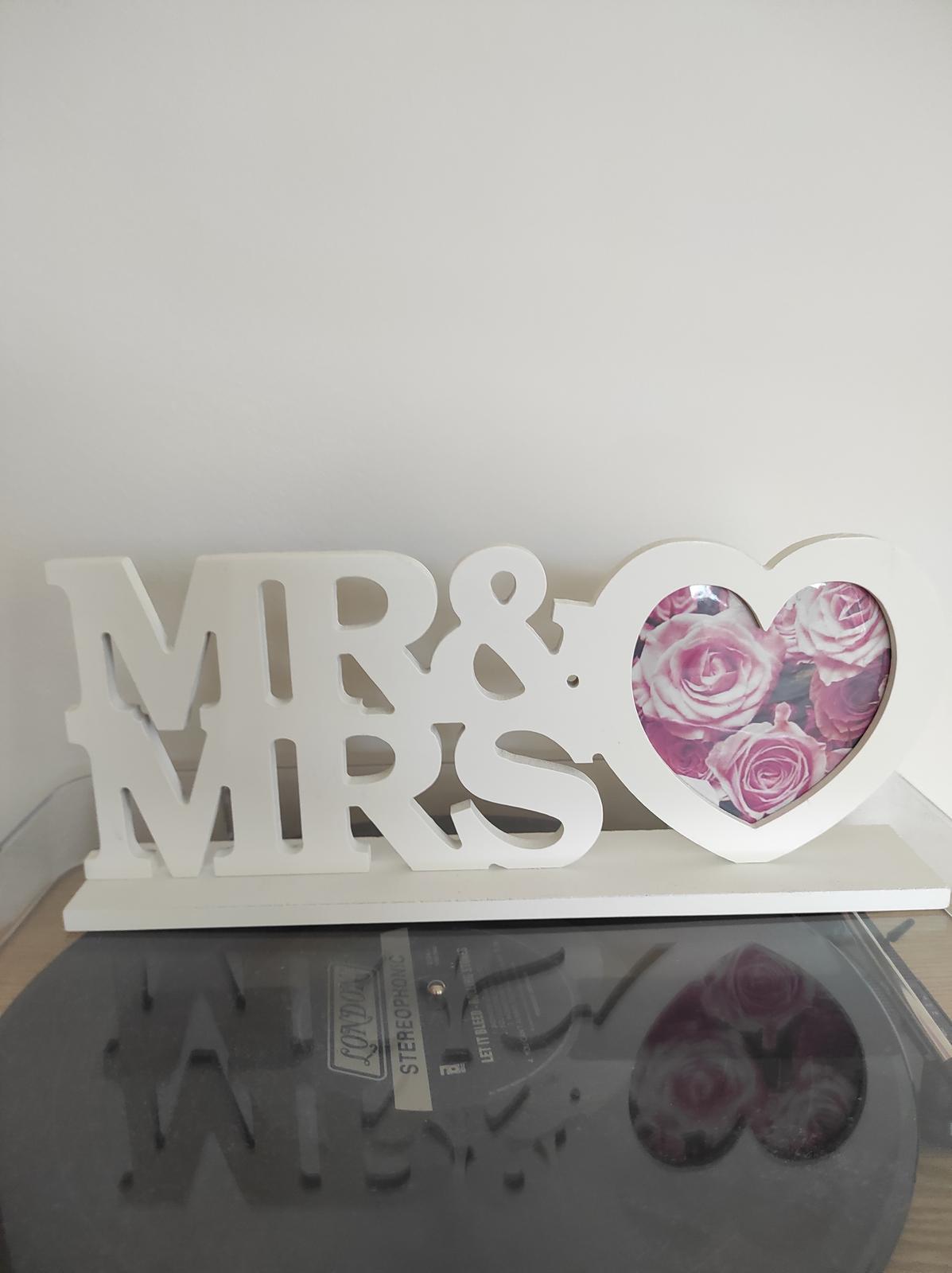 Rámeček Mrs & Mr - Obrázek č. 1