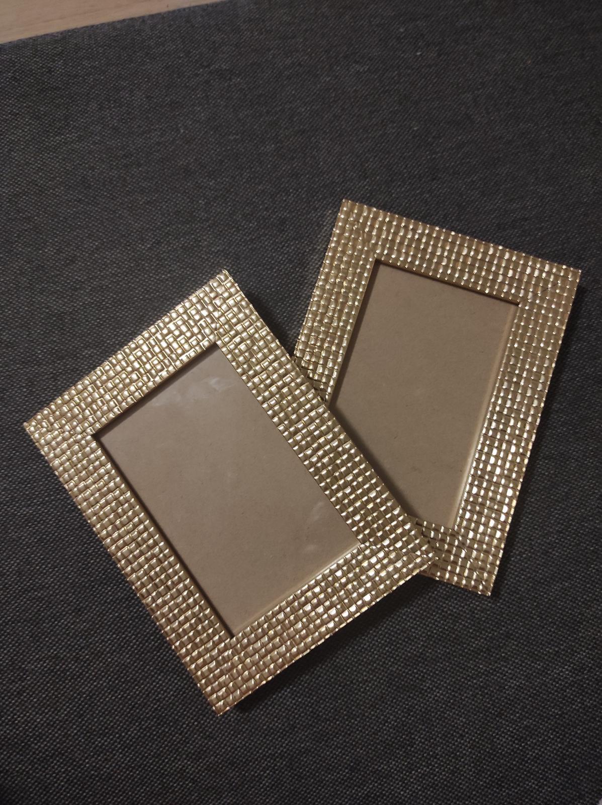Zlaté rámečky - 2ks - Obrázek č. 1