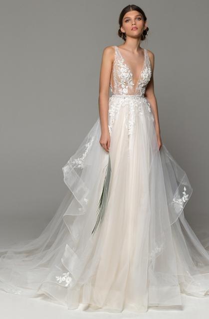 Boho svatební šaty Eva Lendel Harlow, 36-40, - Obrázek č. 1
