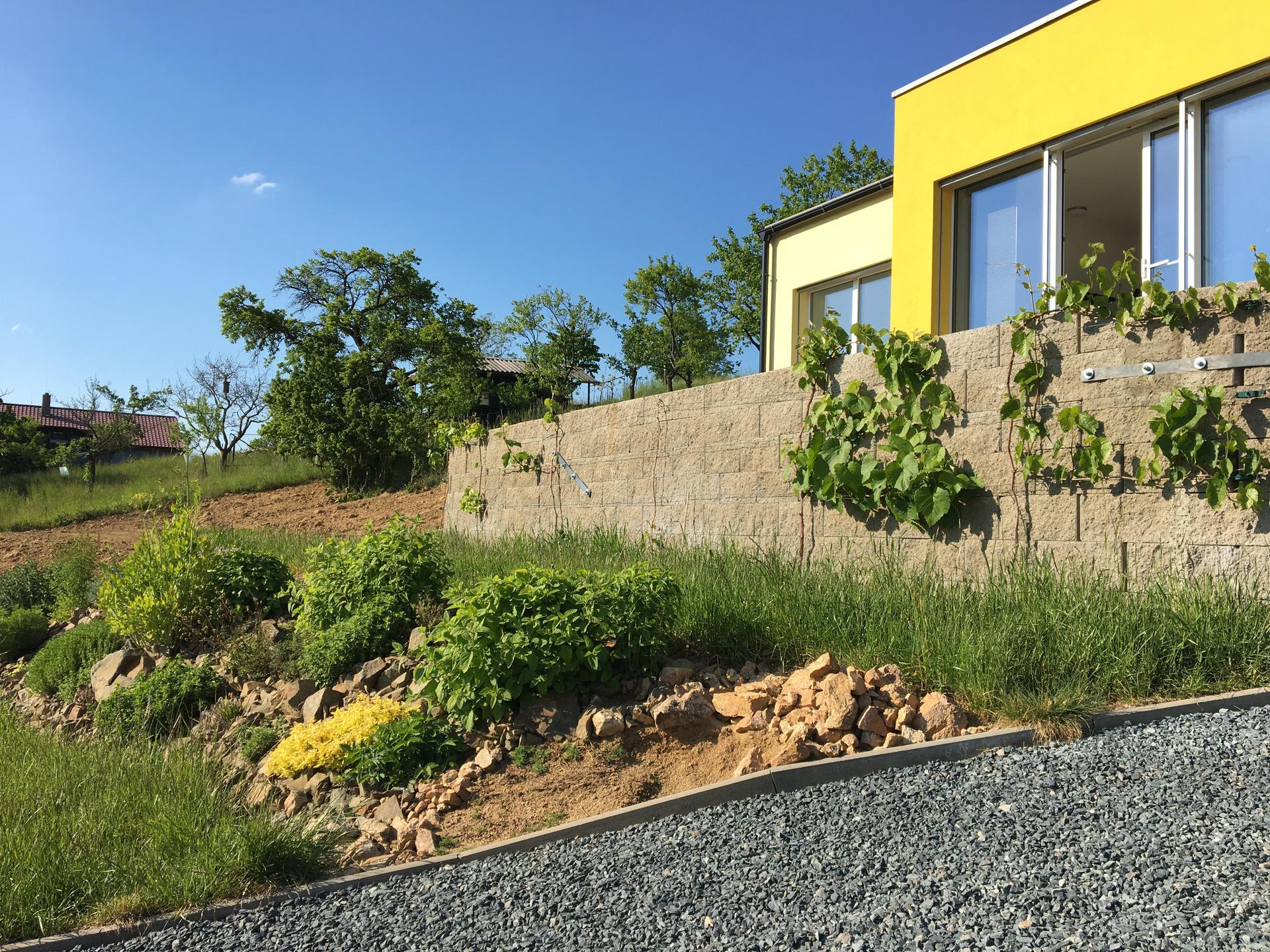 Skřítčí zahrada 2015 - 2020 - Květen 2020 - kdo tu na podzim tvrdil, že tu bylinkovou skalku předělávat třikrát stačilo ... no, tak do čtvrtice už to snad klapne