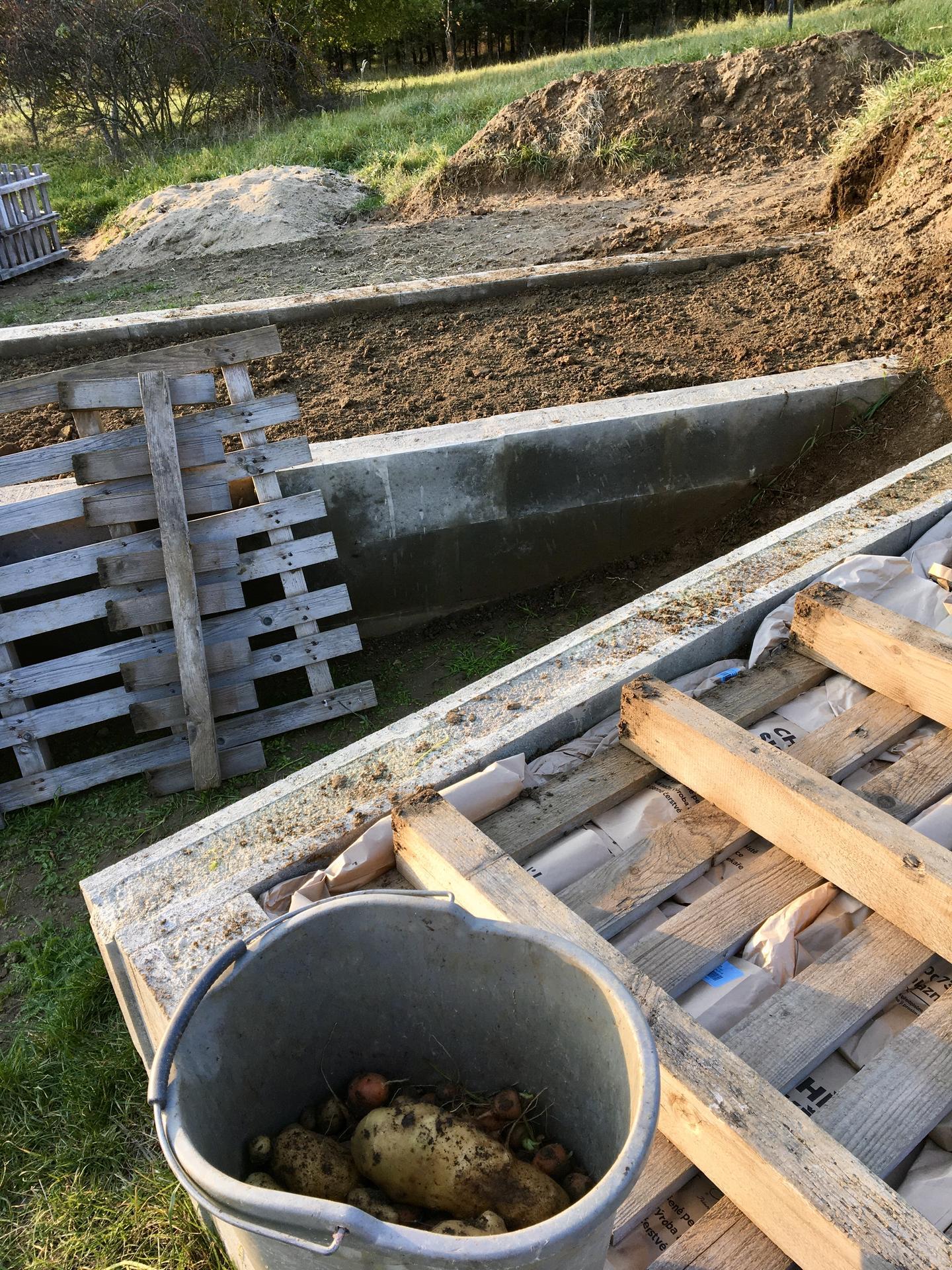 """Fáze druhá ... zahrada - Říjen 2020 - snad aspoň trochu omezím růst plevelů, na zimu jsem záhon """"zamulčovala"""" papírovými taškami a platy od vajec"""