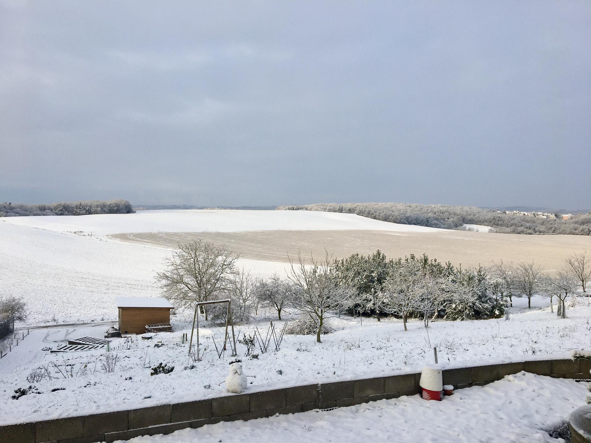 Skřítčí zahrada 2021 - Leden 2021 - trocha sněhu