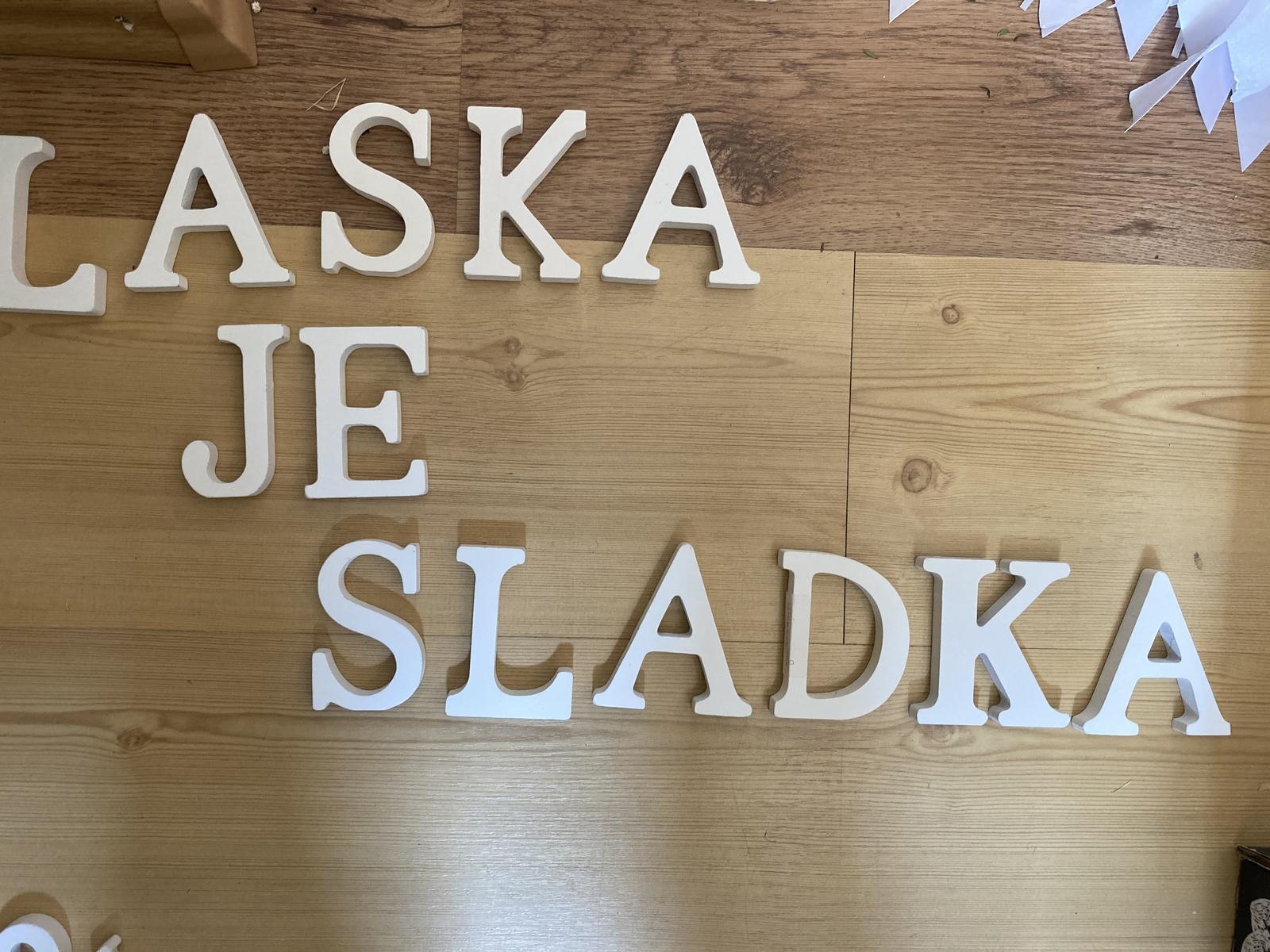 dřevěná písmenka - Obrázek č. 1
