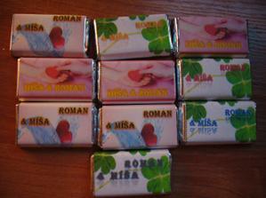 Čokoladky mam pripravene pro hosty nebo na stul,to se jeste uvidi))