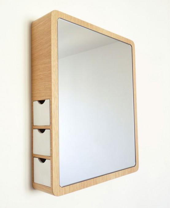 Chuť na design alebo jednoduchosti sa medze nekladú - Dievčatá, toto je genialitka: šuflíčky na bižu v zrkadle!!!