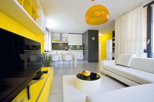 Žltou oživené... - bratislavský byt