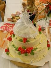 svatební dortíček, který jsem ani neochutnala