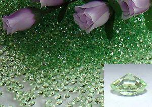 zelene kristaliky na vyzdobu stola, uz mam