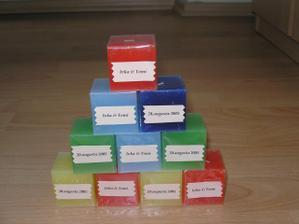 sviečky - darčeky pre hostí