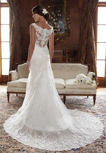Inšpirácie na svadbu - krásny chrbát